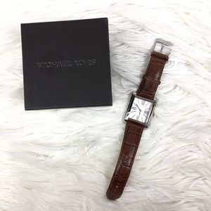 Michael Kors Unisex brown leather watch